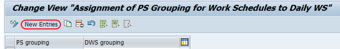 PS groupings for work schedules SAP