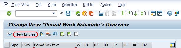 Period work schedule in SAP