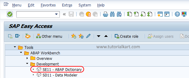 SE11 ABAP Dictionary