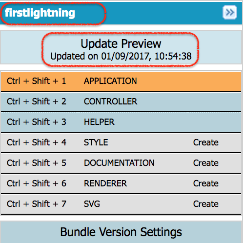 how to create salesforce lightning application
