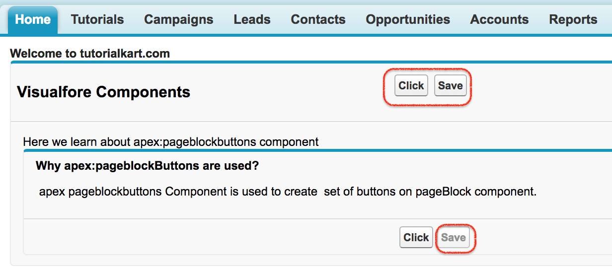 apex pageblockbuttons component