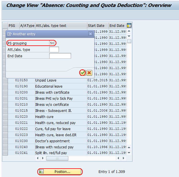 counting and quota deduction SAP