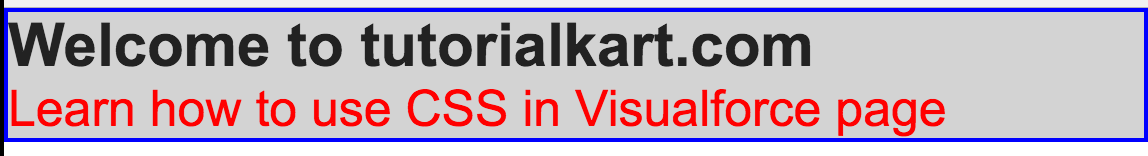 css in visualforce pages