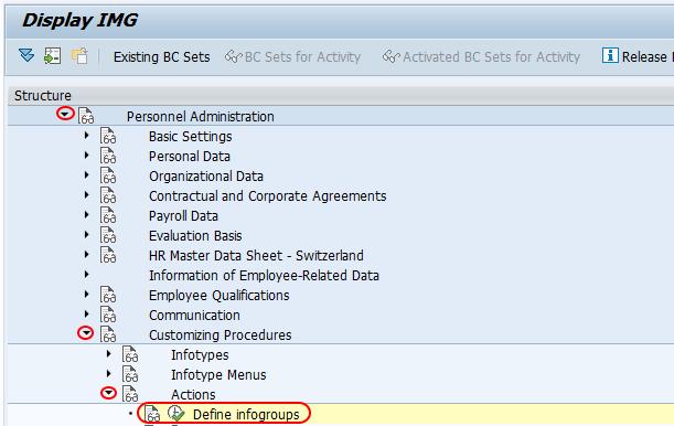 define infogroups SAP path