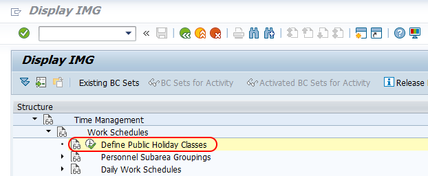 define public holiday classes