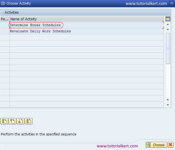 determine break schedules SAP