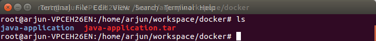 Docker Java Application Image Saved to tar file