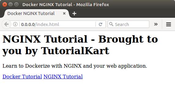 Docker NGINX Application