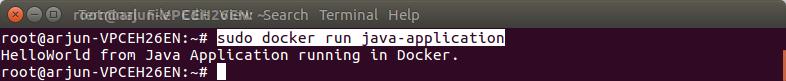 Run Docker Java Example