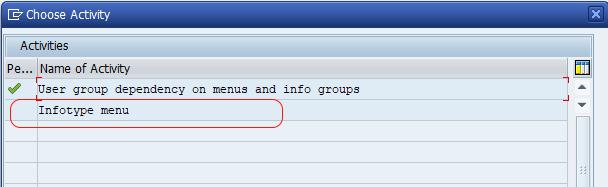 infotype menu SAP