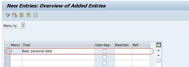 menu infotype SAP