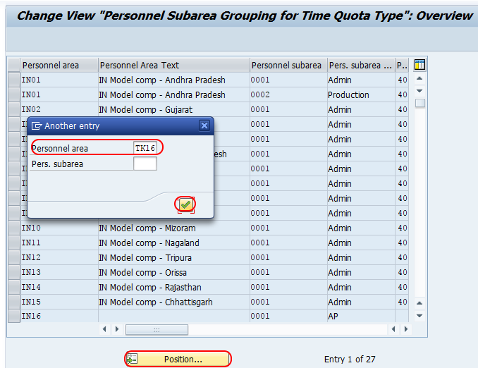 personnel subarea grouping for time quota type SAP