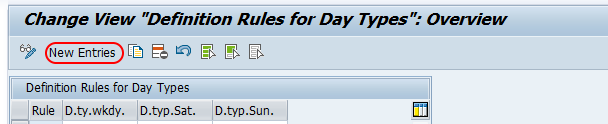 rules for day types SAP