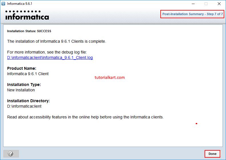 Informatica Client Installation