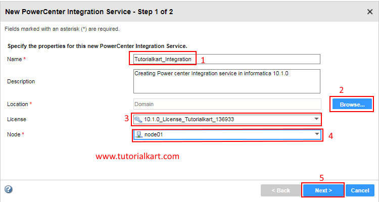 Creating PowerCenter Integration Service in Informatica