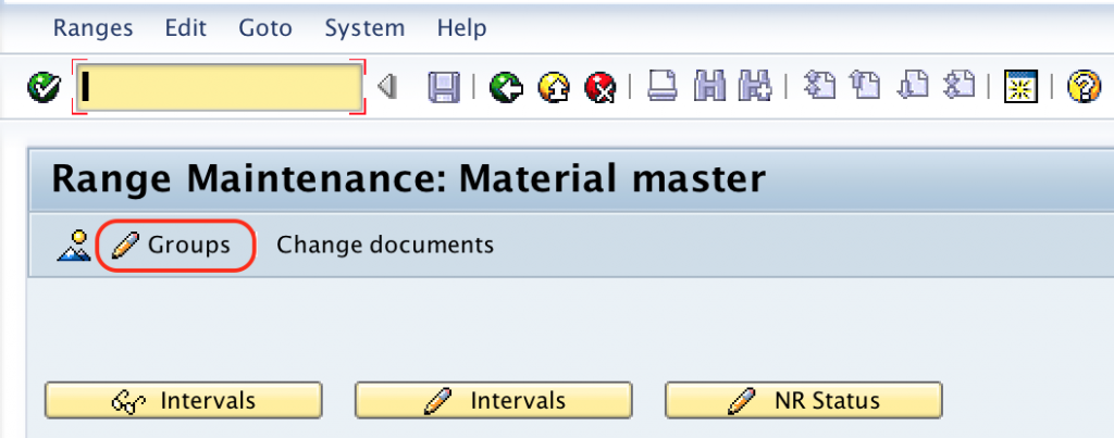 SAP MM - Define Number Ranges for Material Type