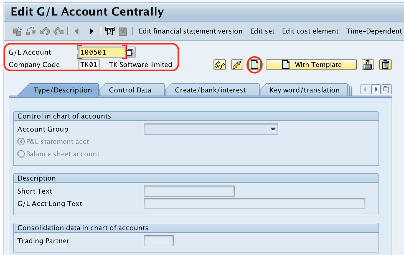 Sundry Creditor Account create SAP