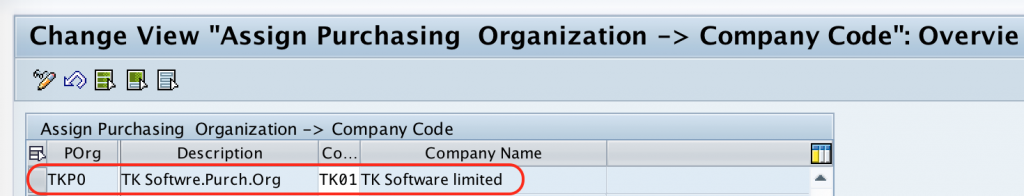 assign Purchase Organization to Company Code