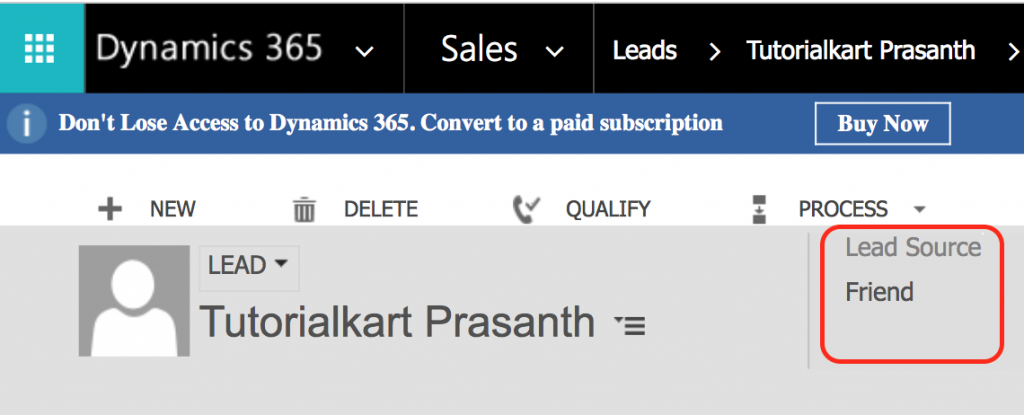 Adding new lead Source in Microsoft Dynamics 365