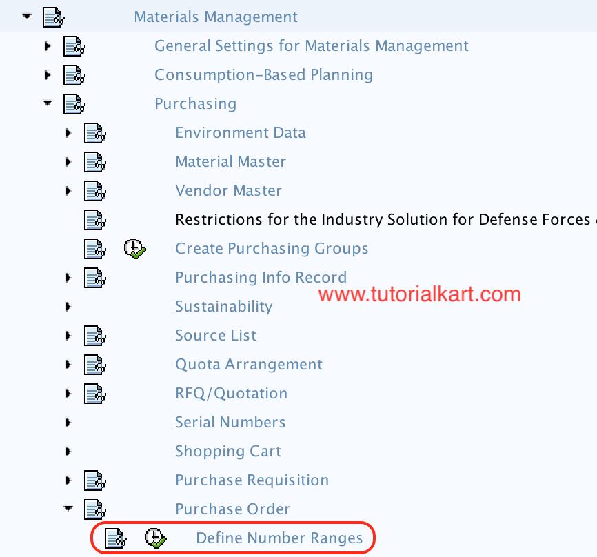 SAP MM - Define Number Ranges for Purchase Order (PO)