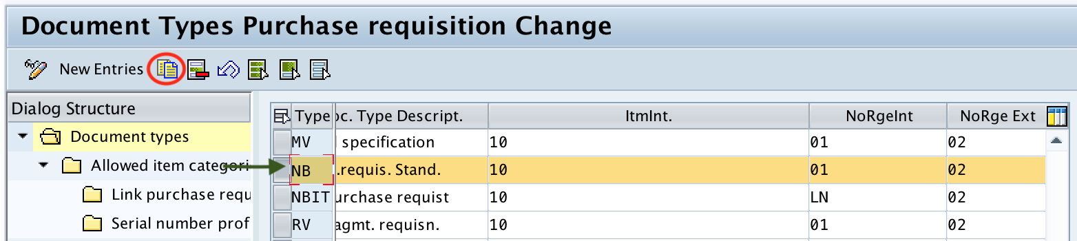 SAP MM - Define Document Types for Purchase Requisition