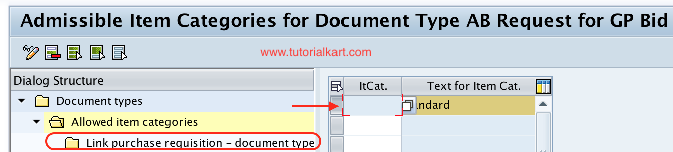 Link purchase requisition - document type RFQ configuration