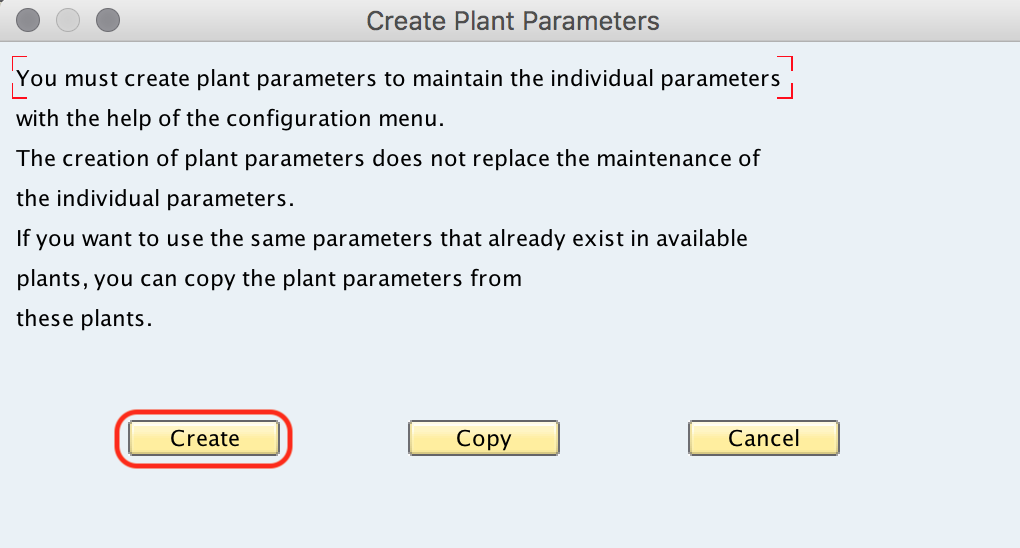 SAP MM - Maintain Plant Parameters for MRP