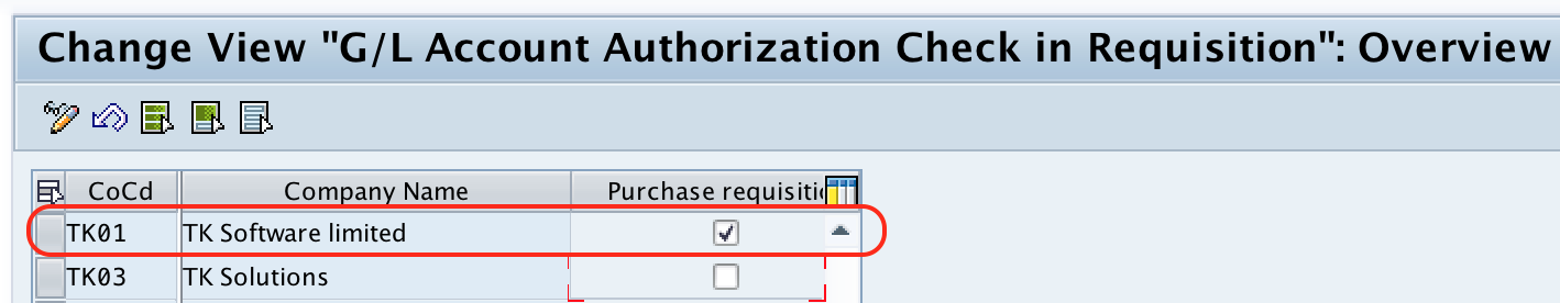 Set up Authorization Check for G:L Account in SAP MM