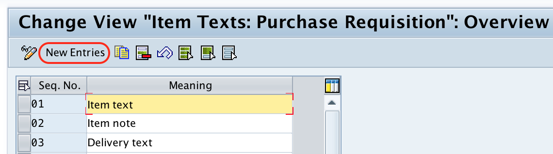 SAP MM - Define Text Fields for Purchase Requisition