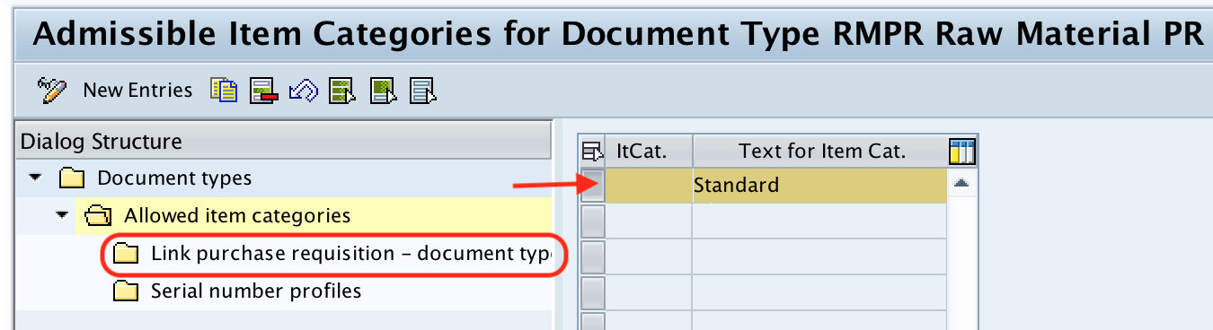 link purchase requisition - document type SAP