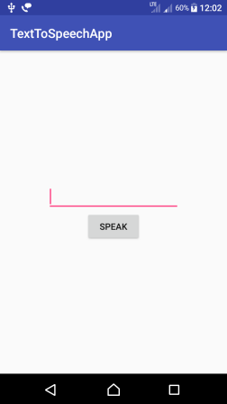 Android Text To Speech - Main Activity