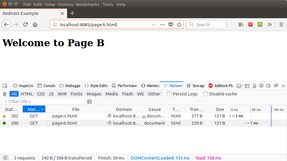 Node.js Redirect Page Not Found