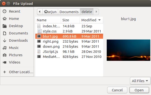 Node js Upload File to Server - Example