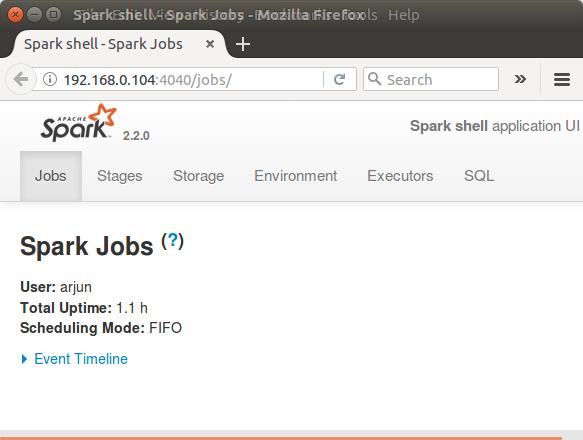 Spark context Web UI