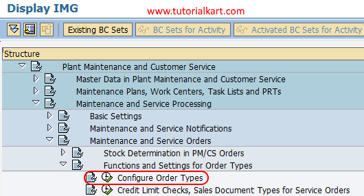 Configure Order Types in SAP PM