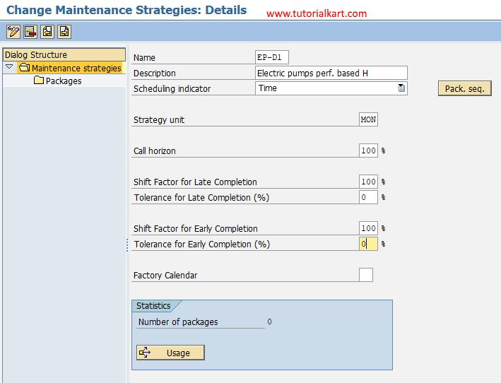 SAP PM - Create Maintenance Strategy in SAP
