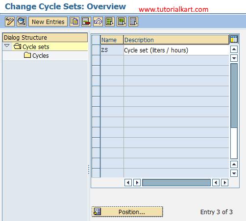 change cycle sets sap