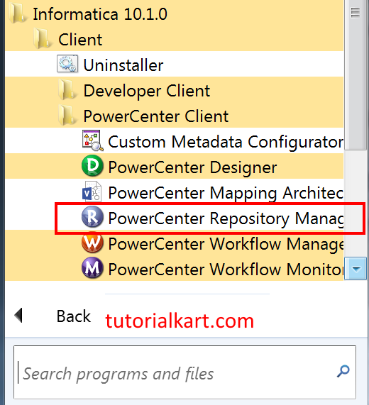 Configuring Informatica Client and Domain