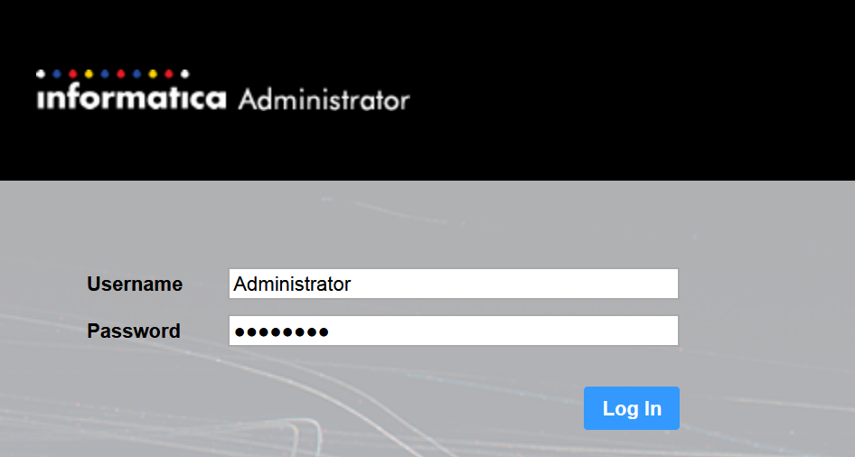 Informatica Administrator login