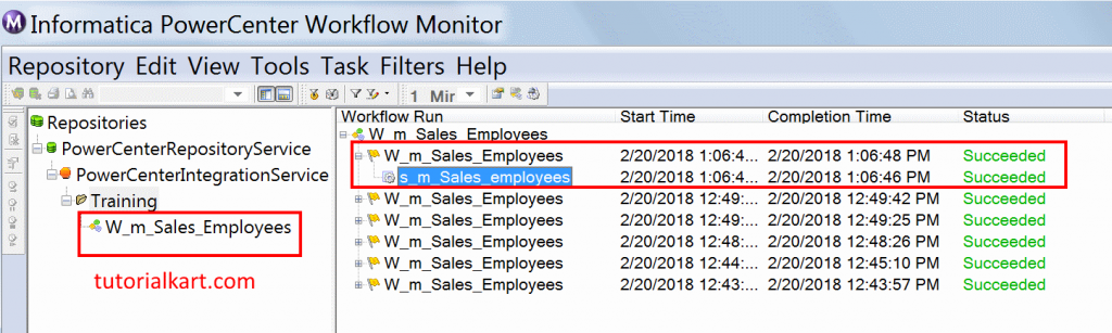 Rank Transformation in Informatica workflow monitor