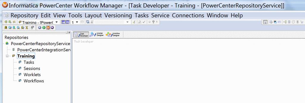 Informatica PowerCenter Workflow Manager.