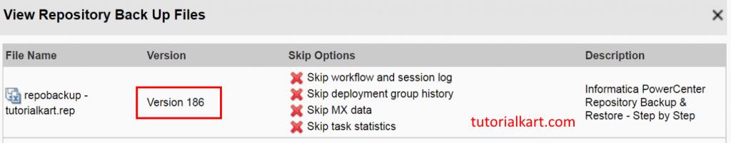 Informatica PowerCenter Repository Backup & Restore - Step by Step