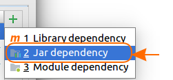 Android Add external Jar to Project Dependencies