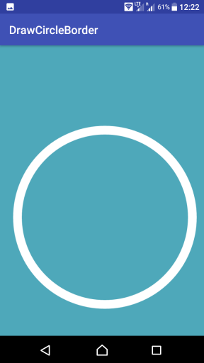 Kotlin Android - Draw Circle Border - Paint, Canvas - Example