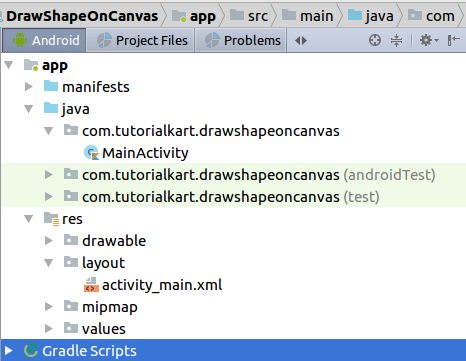 Kotlin Android - Draw Shape (Rect, Oval) to Canvas - Example