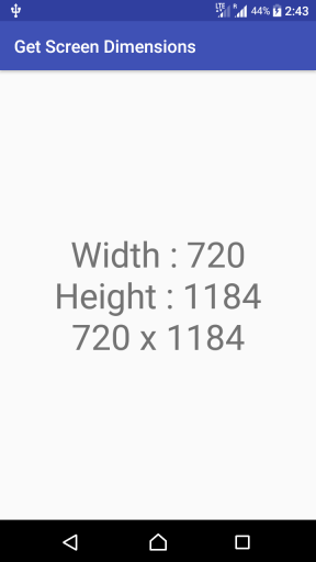 Kotlin Android - Get screen Width and Height programmatically - Example