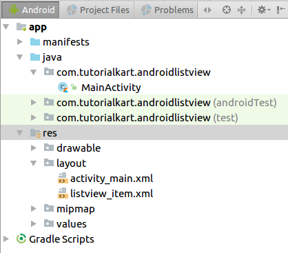 Kotlin Android ListView Example