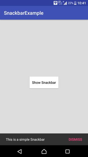 Android Snackbar SetAction