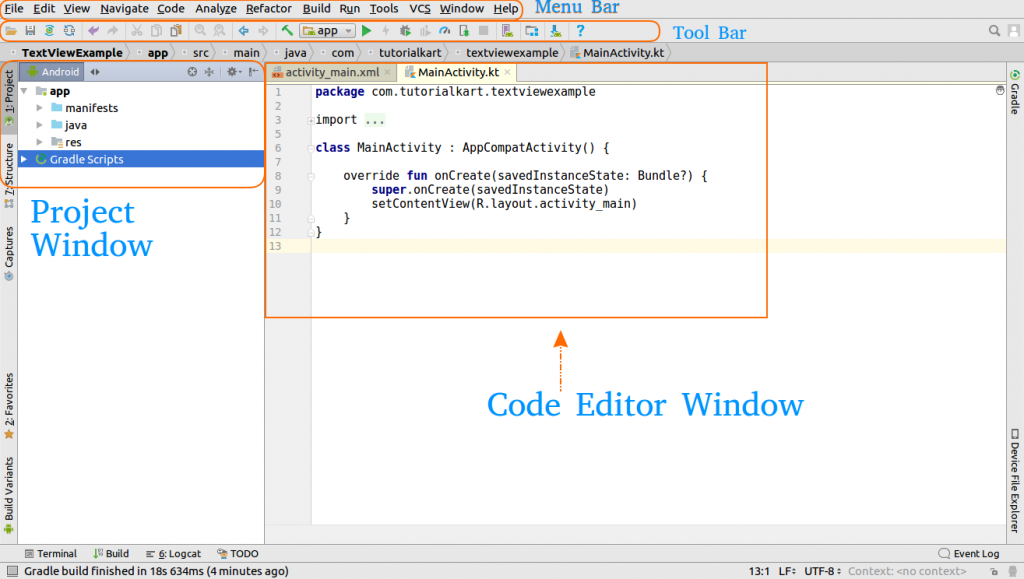 Android Studio IDE Windows and Features