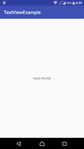 Android TextView Example